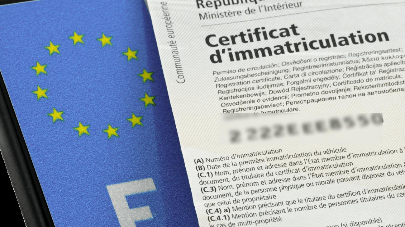 certificat immatirculaation